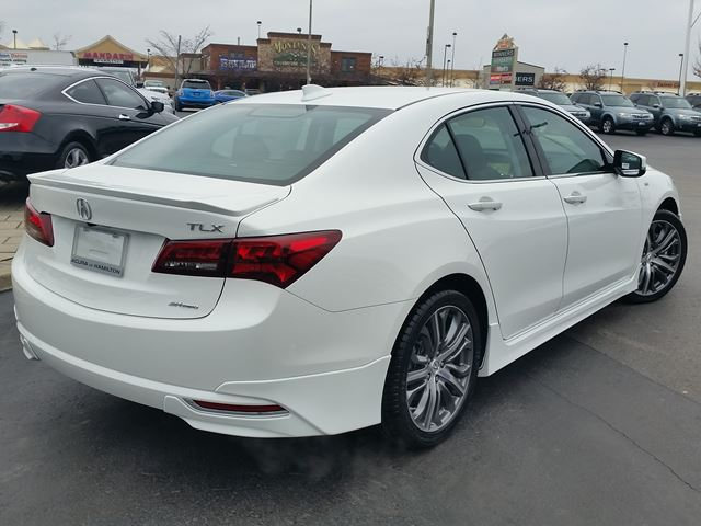 2016 Acura TLX V6 Tech SH-AWD White | ACURA OF HAMILTON - NEW CAR ...