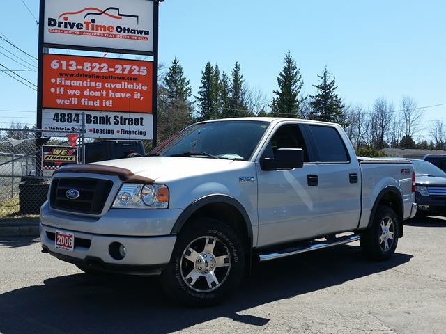 2006 ford f 150 fx4 crew cab 4x4 silver drive time ottawa. Black Bedroom Furniture Sets. Home Design Ideas