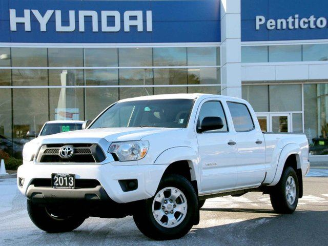 2013 toyota tacoma v6 4x4 double cab white penticton. Black Bedroom Furniture Sets. Home Design Ideas