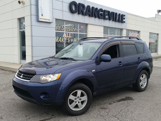 2008 mitsubishi outlander es fwd blue orangeville fine cars. Black Bedroom Furniture Sets. Home Design Ideas
