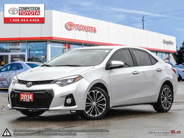 2014 toyota corolla s boxing week 250 gas card included toyota certified one owner no. Black Bedroom Furniture Sets. Home Design Ideas