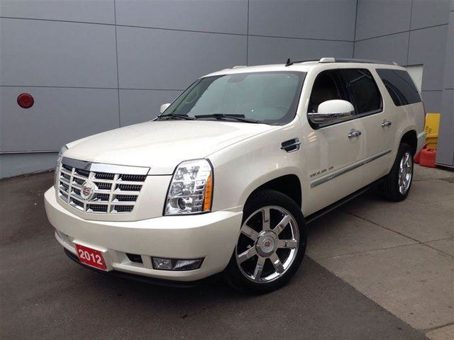 2012 cadillac escalade esv diamond white low low km. Black Bedroom Furniture Sets. Home Design Ideas