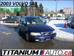 2003 Volvo S40 1.9L Turbo+Sunroof+Heated Leather Seats+Child Seat in London, Ontario