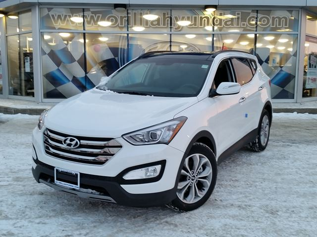 2016 hyundai santa fe limited white orillia hyundai new car. Black Bedroom Furniture Sets. Home Design Ideas