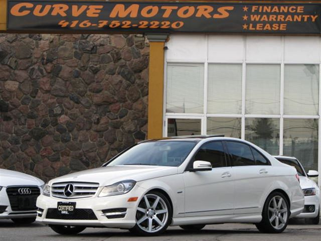 2012 mercedes benz c class c350 4matic amg navigation panoramic light pkg white curve motors. Black Bedroom Furniture Sets. Home Design Ideas