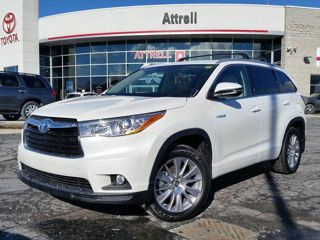 2016 toyota highlander hybrid xle white attrell toyota. Black Bedroom Furniture Sets. Home Design Ideas