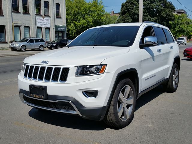 2015 jeep grand cherokee limited white manley motors limited. Black Bedroom Furniture Sets. Home Design Ideas
