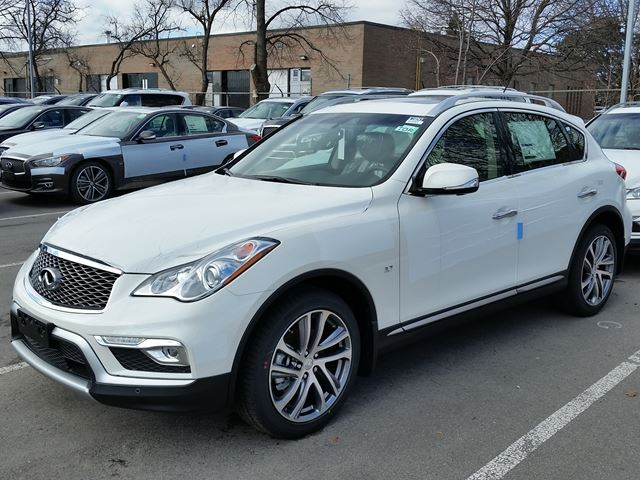 2016 Infiniti QX50 Majestic White  WOODCHESTER NISSAN AND INFINITI