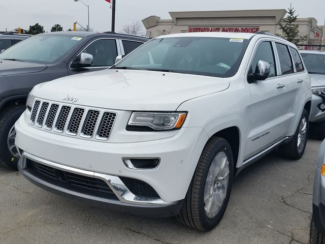2016 jeep grand cherokee summit 4x4 white vaughan chrysler dodge jeep new car. Black Bedroom Furniture Sets. Home Design Ideas