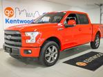 2015 Ford F-150 Lariat 4x4, 3.5L V6 Ecoboost, Voice activated NAV, Leather, Power running boards, Moonroof, Max trailer tow. in Edmonton, Alberta
