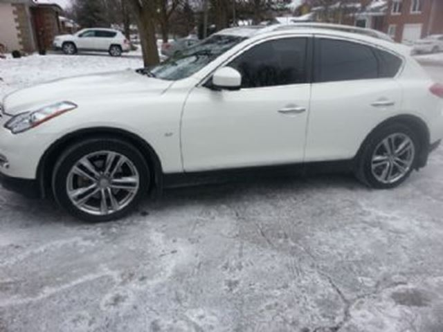 2014 infiniti qx50 pearl white lease busters. Black Bedroom Furniture Sets. Home Design Ideas