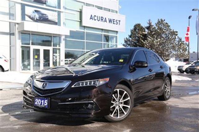 2015 Acura TLX V6 Elite Brown | ACURA WEST | Wheels.ca