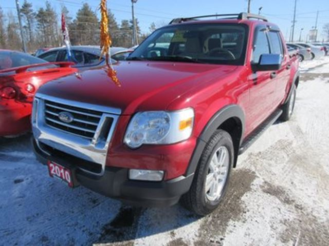 2010 ford explorer sport trac 39 sharp 39 loaded xlt model 5 passenger 4x4 crew red broadway. Black Bedroom Furniture Sets. Home Design Ideas