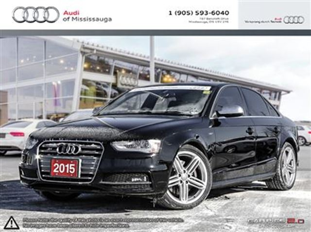 2015 audi s4 3 0t technik quattro w navigation mississauga ontario used car for sale 2412237. Black Bedroom Furniture Sets. Home Design Ideas