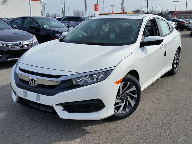 2016 honda civic ex white whitby oshawa honda new car. Black Bedroom Furniture Sets. Home Design Ideas