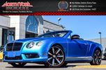 2015 Bentley Continental GT AWD Convertible 521HP Low KM Clean CarProof Nav 21Rims!Rare Color!Executive Driven! in Thornhill, Ontario