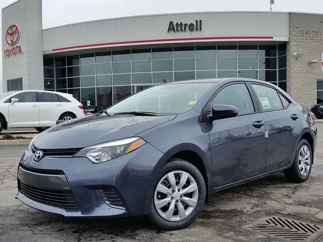 2016 toyota corolla le blue attrell toyota new. Black Bedroom Furniture Sets. Home Design Ideas
