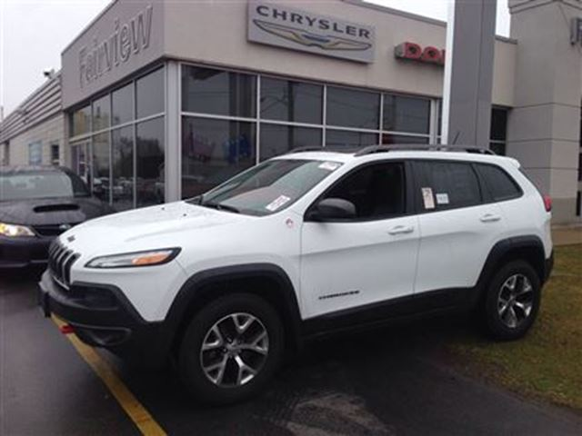 2014 Jeep Cherokee Trailhawk Loaded White Fairview