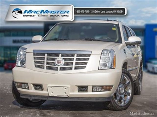 2010 cadillac escalade esv white macmaster chevrolet. Black Bedroom Furniture Sets. Home Design Ideas