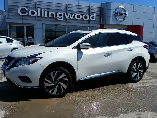 2016 nissan murano platinum awd new white collingwood nissan. Black Bedroom Furniture Sets. Home Design Ideas