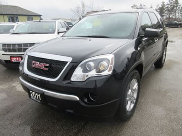 2011 GMC Acadia WELL EQUIPPED SLE MODEL 7 PASSENGER CAPTAINS..  in Bradford, Ontario