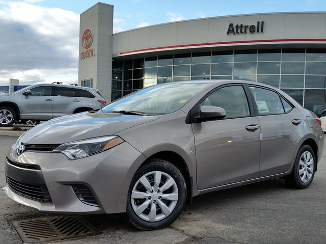 2016 toyota corolla le brown attrell toyota new. Black Bedroom Furniture Sets. Home Design Ideas