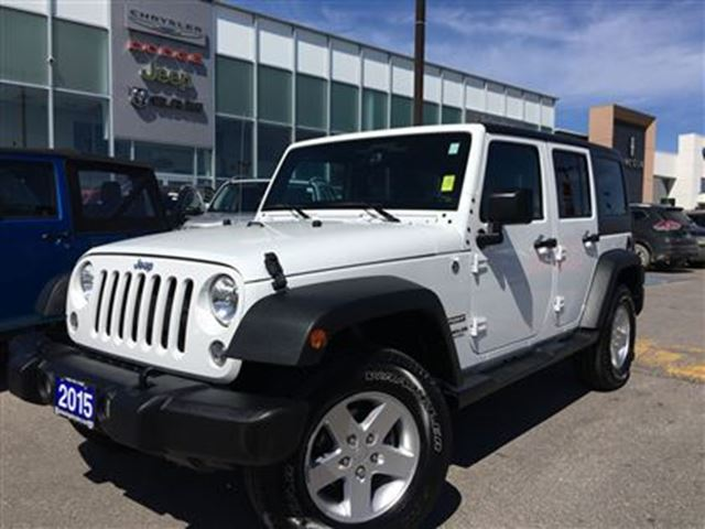 2015 jeep wrangler unlimited sport white pickering chrysler wheels. Cars Review. Best American Auto & Cars Review
