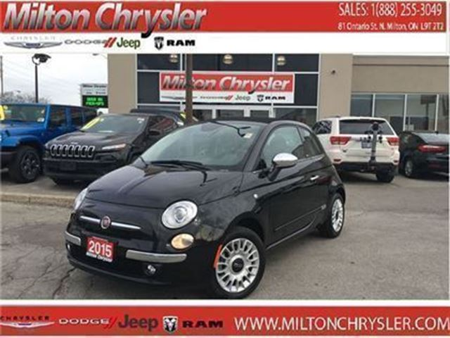 2015 Fiat 500 LOUNGE CONVERTIBLE LEATHER in Milton, Ontario