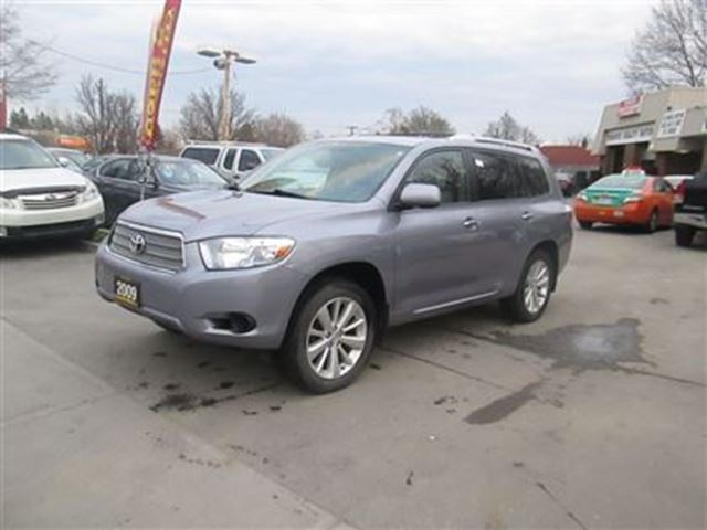 2009 toyota highlander hybrid low low km blue toronto. Black Bedroom Furniture Sets. Home Design Ideas