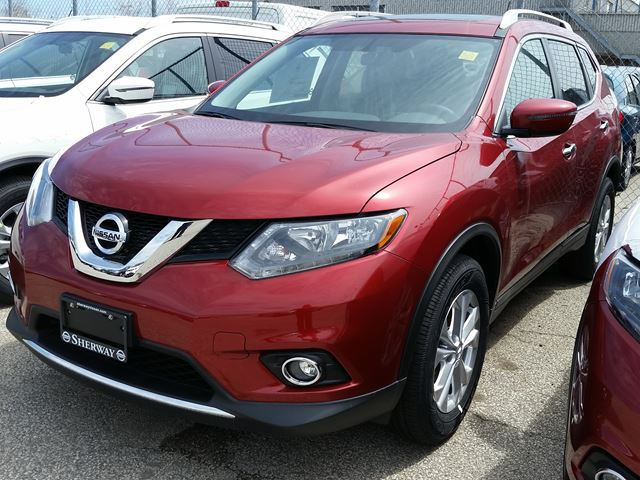 2016 nissan rogue sv awd red sherway nissan new car. Black Bedroom Furniture Sets. Home Design Ideas