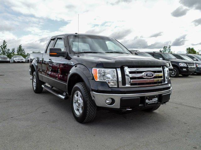 2009 ford f 150 xlt 4x4 super cab styleside 6 5 ft box 145 in wb black go auto outlet. Black Bedroom Furniture Sets. Home Design Ideas