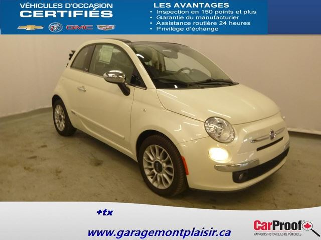 2012 Fiat 500 Lounge in Drummondville, Quebec