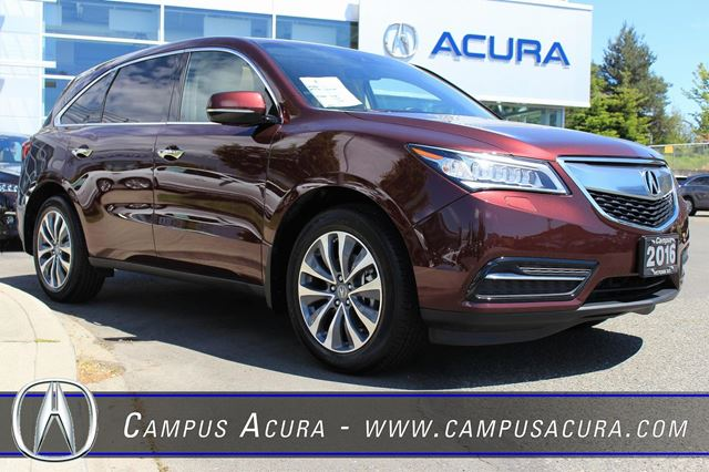 2016 Acura MDX Navi Dark Cherry | CAMPUS ACURA | Wheels.ca