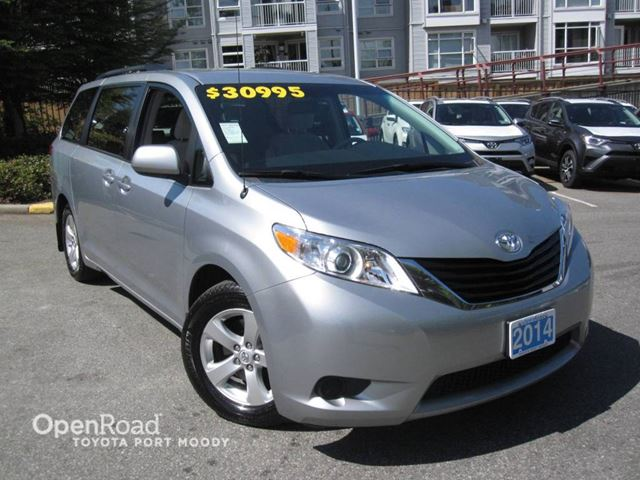 2014 toyota sienna le silver openroad toyota port moody. Black Bedroom Furniture Sets. Home Design Ideas