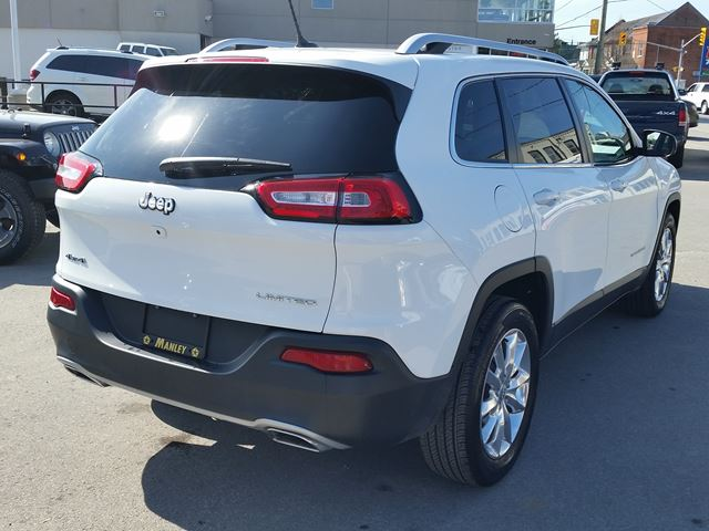 2015 jeep cherokee limited white manley motors limited for Manley motors used cars