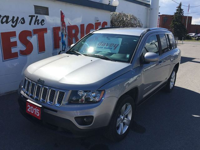 2015 jeep compass sport north 4x4 leather mp3 input silver davey auto sales. Black Bedroom Furniture Sets. Home Design Ideas