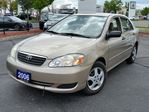 2006 Toyota Corolla CE | AM/FM Stereo Compact Disc, Title Display, Digital Signal Processor (DSP), 6 Speakers, Roof Mounted Antenna, Bucket Seats, Leather Wrapped Steering Wheel, Keyless Entry, Tinted Glass   in Mississauga, Ontario