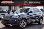 2014 BMW X3 xDrive28i Premium Pkg Technology Pkg Cold Weather Pkg Nav ACCIDENT FREE Pano_Sunroof 18Alloys in Thornhill, Ontario