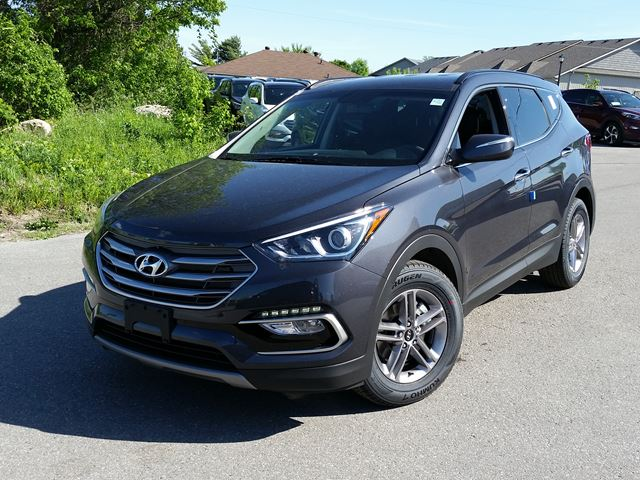 2017 hyundai santa fe se black orillia hyundai new car. Black Bedroom Furniture Sets. Home Design Ideas