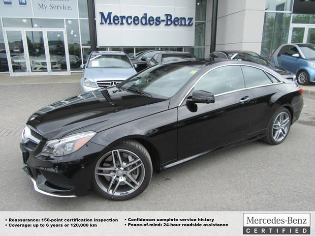 2016 mercedes benz e550 coupe obsidian black met star for Mercedes benz vip club black leather