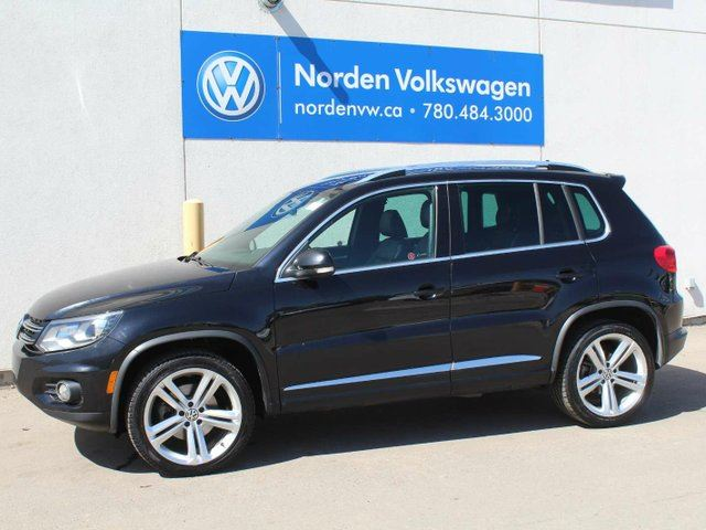 2013 volkswagen tiguan 2 0 tsi highline r line black norden volkswagen. Black Bedroom Furniture Sets. Home Design Ideas