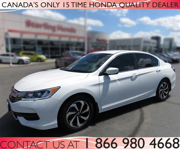 2016 honda accord lx tint low km 39 s white sterling honda. Black Bedroom Furniture Sets. Home Design Ideas