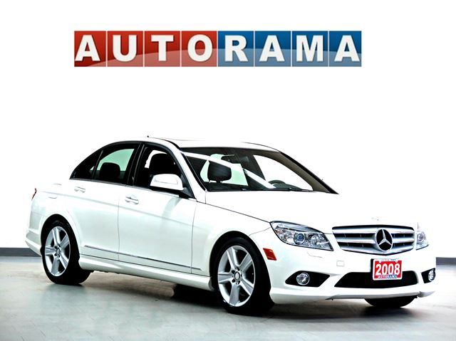 2008 mercedes benz c class c300 leather sunroof awd white for 2008 mercedes benz c300 rims