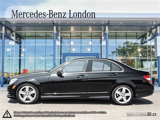 2011 mercedes benz c300 4matic sedan low km 39 s black for Mercedes benz ontario phone number