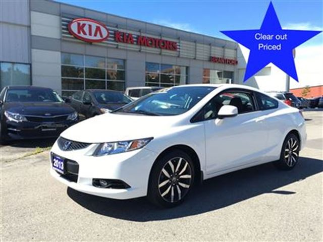 2013 honda civic ex l navi white brantford kia. Black Bedroom Furniture Sets. Home Design Ideas
