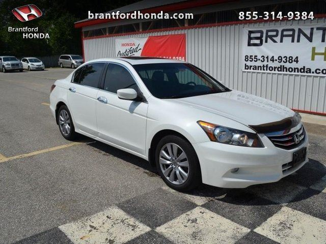 2012 honda accord ex l v6 4dr sedan white brantford. Black Bedroom Furniture Sets. Home Design Ideas