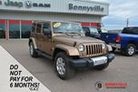 2015 Jeep Wrangler Unlimited SAHARA, GREAT CONDITION, UNDER 30,000KMS, LEATHER in Bonnyville, Alberta