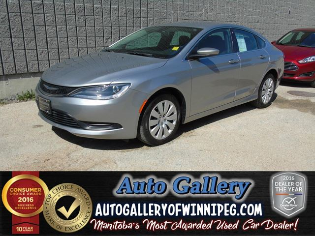 2015 chrysler 200 lx only 7 669 kms silver auto gallery of winnipeg. Black Bedroom Furniture Sets. Home Design Ideas