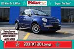 2013 Fiat 500 LOUNGE/SUNROOF/LEATHER/HEATED SEATS/CLEAN in Milton, Ontario