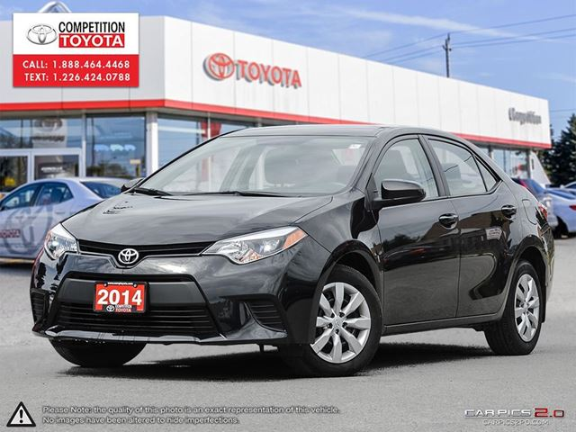 2014 toyota corolla le toyota certified one owner toyota serviced black competition toyota. Black Bedroom Furniture Sets. Home Design Ideas